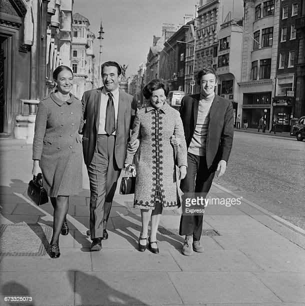 British media mogul Robert Maxwell with his wife Elisabeth and children Ann and Philip outside the Royal Courts of Justice on the Strand in London UK...