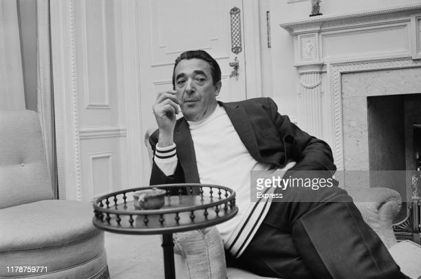 British media proprietor and Member of Parliament and fraudster Robert Maxwell sitting in an armchair UK 25th August 1969