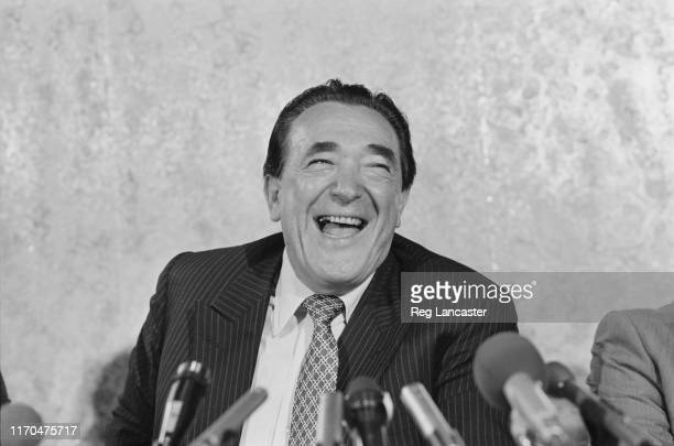 British media proprietor and Member of Parliament Robert Maxwell at a press conference on his acquisition of the Mirror Group Newspapers UK 14th July...