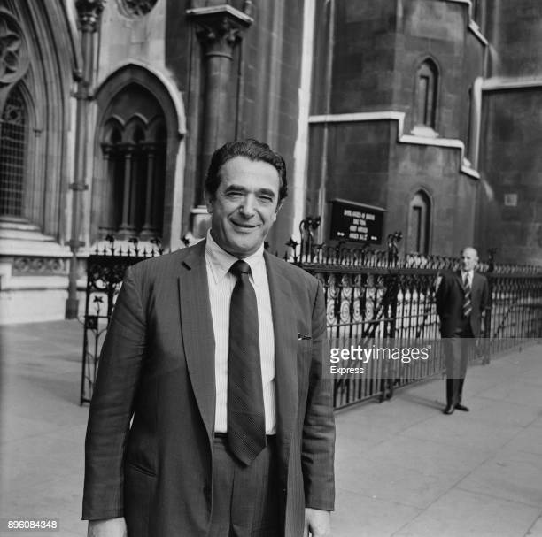 British media proprietor and politician Robert Maxwell outside the Royal Courts of Justice London UK 25th September 1971