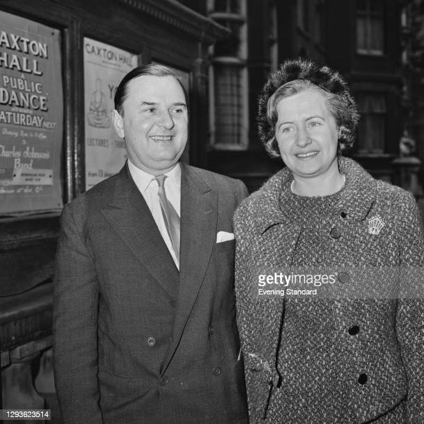 British merchant banker Stephen Catto, 2nd Baron Catto marries Margaret Forrest at Caxton Hall in London, UK, 27th January 1966. Catto is director of...