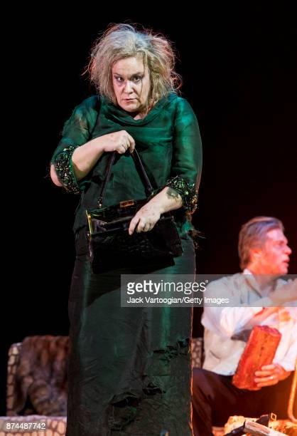 British mezzosoprano Alice Coote performs at the final dress rehearsal prior to the US premiere of 'The Exterminating Angel' at the Metropolitan...