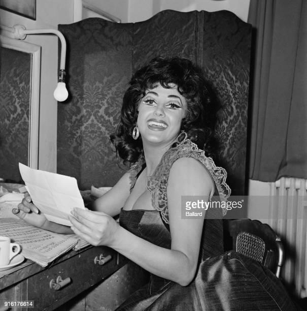 British mezzosoprano Joyce Blackham wearing costume for opera 'Carmen' Covent Garden London UK 18th February 1968