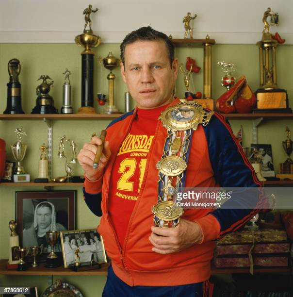 British middleweight boxer Terry Downes circa 1980