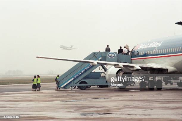 British Midland operated a commemorative flight to Teesside Airport to mark its last DC9 leaving the fleet On the commemorative flight were members...