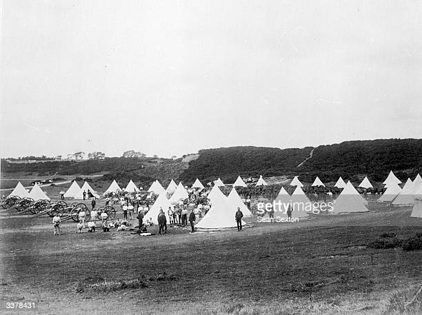 British military encampment at Curragh County Kildare where most of the British Army was stationed during Irish manoeuvres