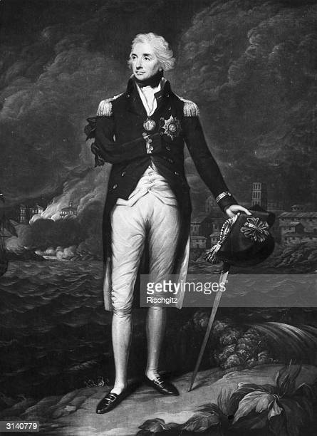 British military hero Admiral Horatio Nelson He lost his right arm during a battle with the Spanish at Santa Cruz Original Artwork Engraving after...