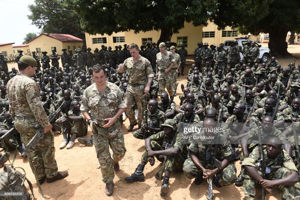British military instructors arrives to train Nigerian army