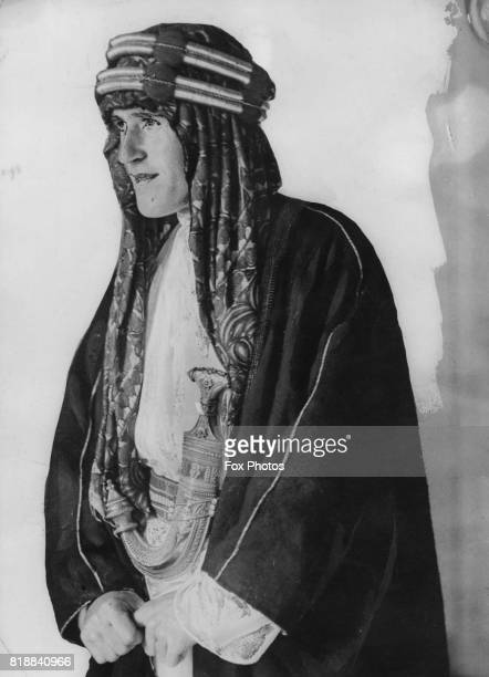 British military officer and writer T. E. Lawrence , circa 1920.