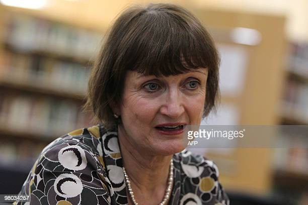 British Minister for the Olympics, Tessa Jowell, offers a press conference during a forum on the Olympic Games and the World Cup promoted by the...
