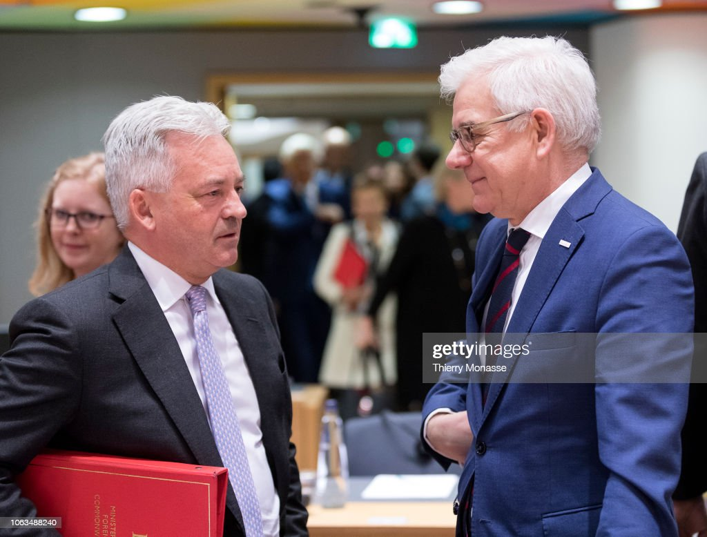 EU Foreign Affairs Ministers Meeting : News Photo
