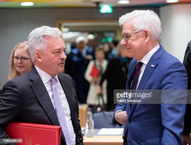 British Minister of State for Europe and the Americas Sir Alan James Carter Duncan KCMG is talking with the Polish Minister of Foreign Affairs Jacek...