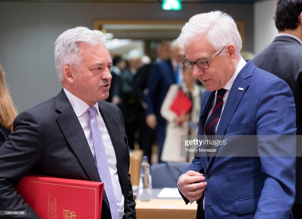 EU Foreign Affairs Ministers Meeting : News Photo