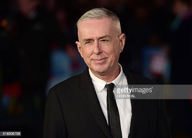 British misician Holly Johnson poses for a photograph as he arrives for the European premiere of Eddie The Eagle in London on March 17 2016 / AFP /...