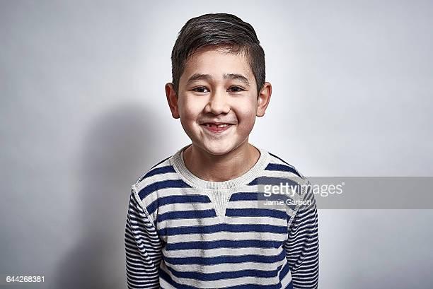 British mixed race child laughing