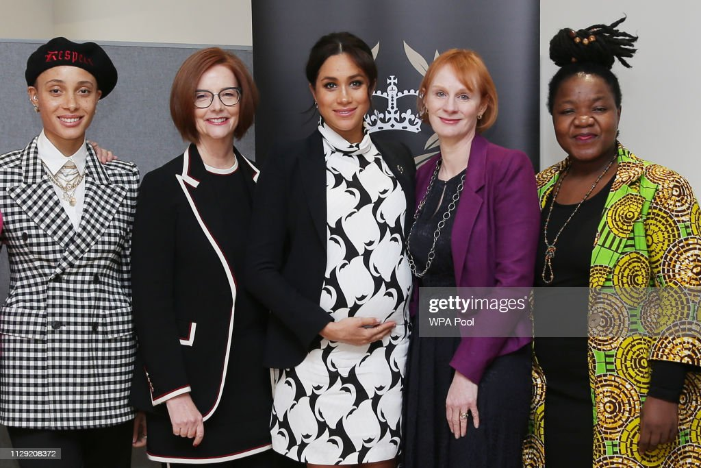 The Duchess Of Sussex Joins A International Women's Day Panel Discussion : News Photo