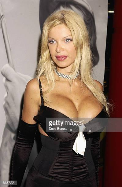 British model Alicia Duvall attends the premiere of the film About Schmidt at the Warner Brothers Cinema West End on January 22 2003 in London