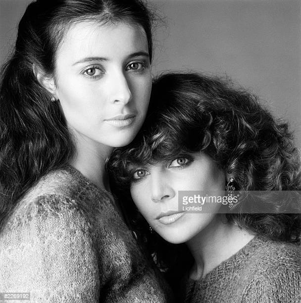 British model and actress Emma photographed in the Studio with her sister model Joanna Jacobs 1st December 1980 For the book 'Lichfield The Most...