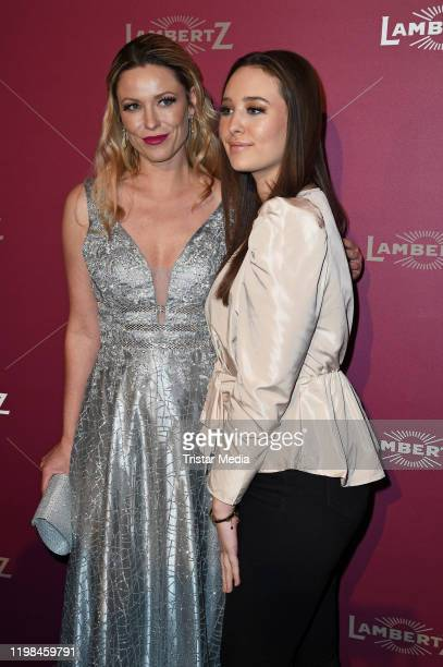 British model and actress Kiera Chaplin and her sister India Chaplin attend the red carpet arrival at Lambertz Monday Night Party 2020 at Alter...