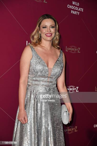 British model and actress Kiera Chaplin attends the red carpet arrival at Lambertz Monday Night Party 2020 at Alter Wartesaal on February 3, 2020 in...