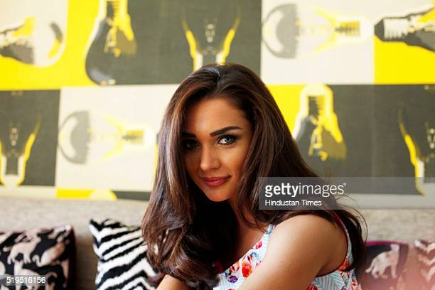 British model and Bollywood actor Amy Jackson poses during an exclusive interview with HT CafeHindustan Times for Easter special shoot at Juhu on...