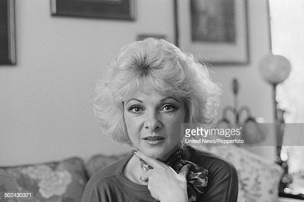 British model and participant in the Profumo affair Mandy RiceDavies in London on 13th March 1985