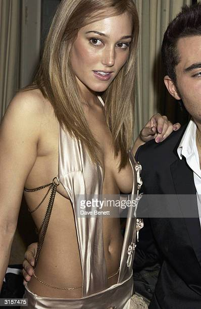 British model Jacqui Ainsley and British pop star Darius Danesh arrive at the screening of the film 'Just Married' held at the Covent Garden Hotel on...