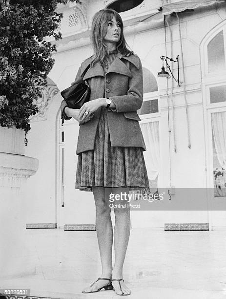 British model Jean Shrimpton on the Costa Del Sol Spain where she has been on a modelling assignment 12th december 1966