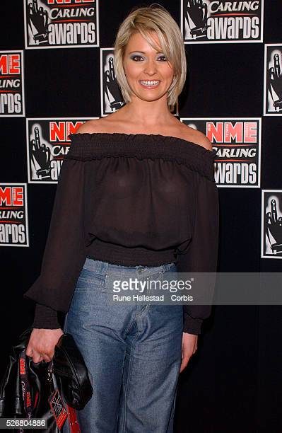 "British model Jo Guest arrives at the ""New Musical Express"" Carling awards."
