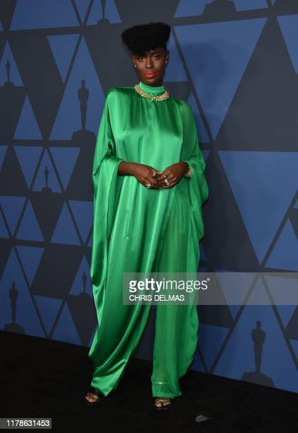 British model Jodie TurnerSmith arrives to attend the 11th Annual Governors Awards gala hosted by the Academy of Motion Picture Arts and Sciences at...