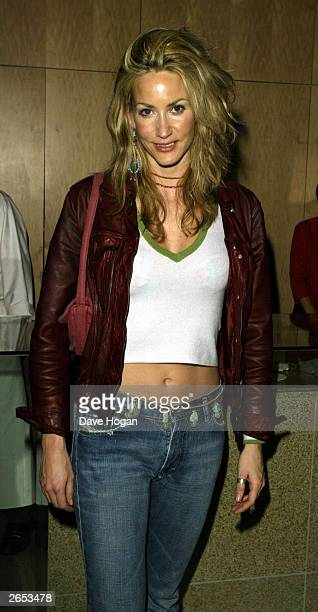 """British model Lisa Butcher attends Westlife's """"Unbreakable"""" album launch at the Zuma Restaurant on November 11, 2002 in London."""