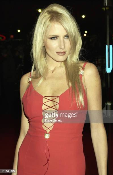 "British model Nancy Sorrell arrives at the UK premiere of the film ""Love Actually"" held at the Odeon Cinema Leicester Square on November 16, 2003 in..."