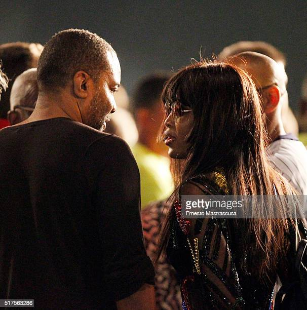 British model Naomi Campbell attends the first show of the Rolling Stones in the Cuba as part of the Latin American Ole Tour at Ciudad Deportiva on...