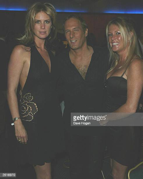 British model Rachel Hunter her sister and American singer Michael Bolton attend the preaward cocktail party for the 14th World Music Awards at the...