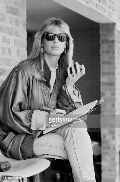 British model Stephanie McLean time his partner British motorcycle racer Barry Sheene UK 22nd April 1984