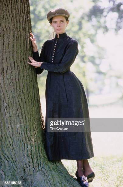 British model Victoria Lockwood, after the announcement of her engagement to Viscount Althorp, Charles Spencer, in the grounds of the Spencer family...