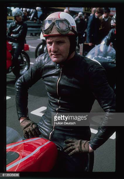 British motor cyclist Mike Hailwood, 1968.