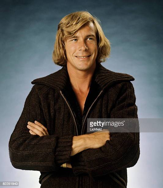British motor racing driver and commentator James Hunt, photographed in the Studio on 24th August 1976. .