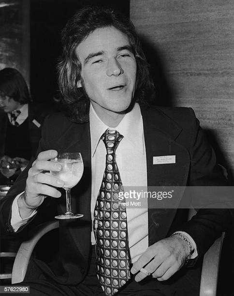 British motorbike champion Barry Sheene attends a Sportsman of the Year luncheon at the Savoy Hotel, 14th November 1975.