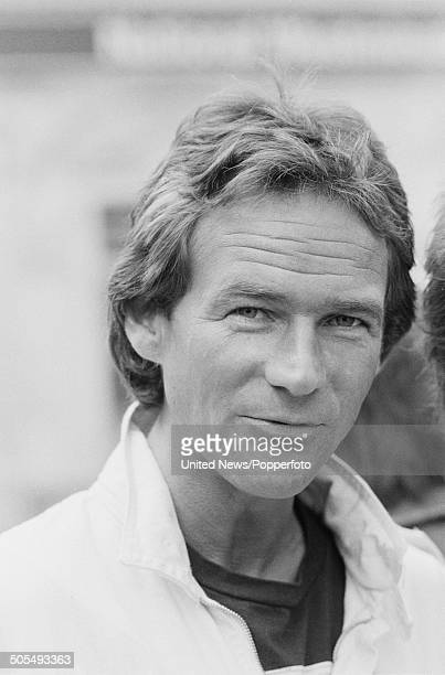 British motorcycle road racer Barry Sheene posed in London on 1st May 1984