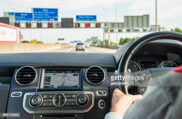 British motorway journey - passenger point of view