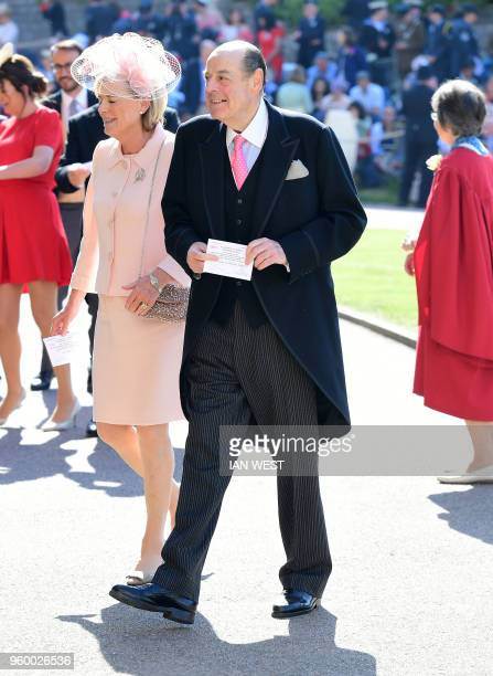 British MP Nicholas Soames arrives for the wedding ceremony of Britain's Prince Harry, Duke of Sussex and US actress Meghan Markle at St George's...