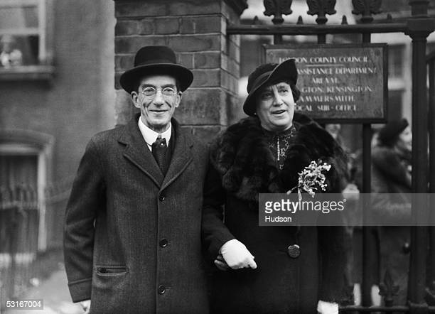 British MP Sir Francis Dyke Acland the 10th Baronet Acland marries Constance Dudley at Kensington Register Office 10th December 1937