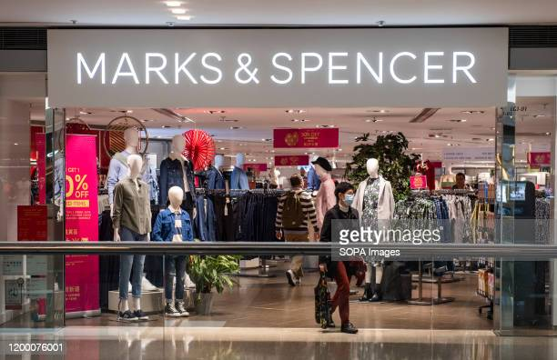 British multinational retailer Marks Spencer store seen in Hong Kong