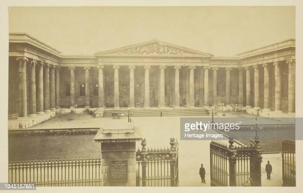 British Museum, 1850-1900. [Courtyard of the Museum, built in a Classical style to the designs of Sir Robert Smirke to house the growing national...