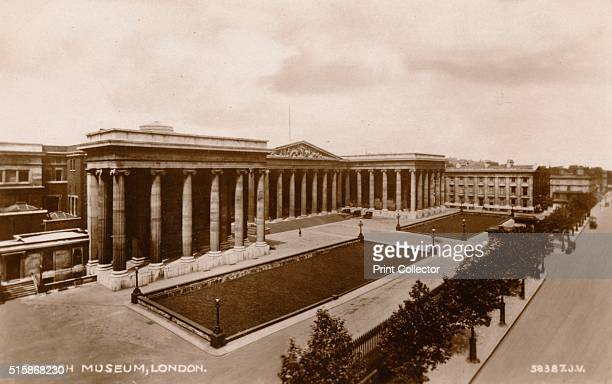 British Museum London' circa 1920 'British Museum London situate in Great Russell Street close to Russell Square Its foundation was due to Sir Hans...