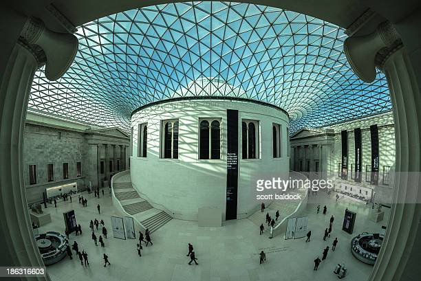 CONTENT] british museum London the great room fish eye lens city architecture