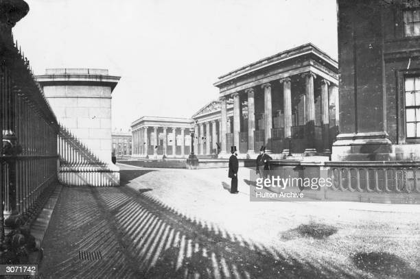 The courtyard and front of the British Museum London