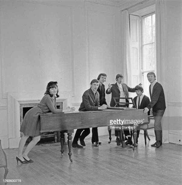 British music group The Overlanders at the piano, UK, 1966.