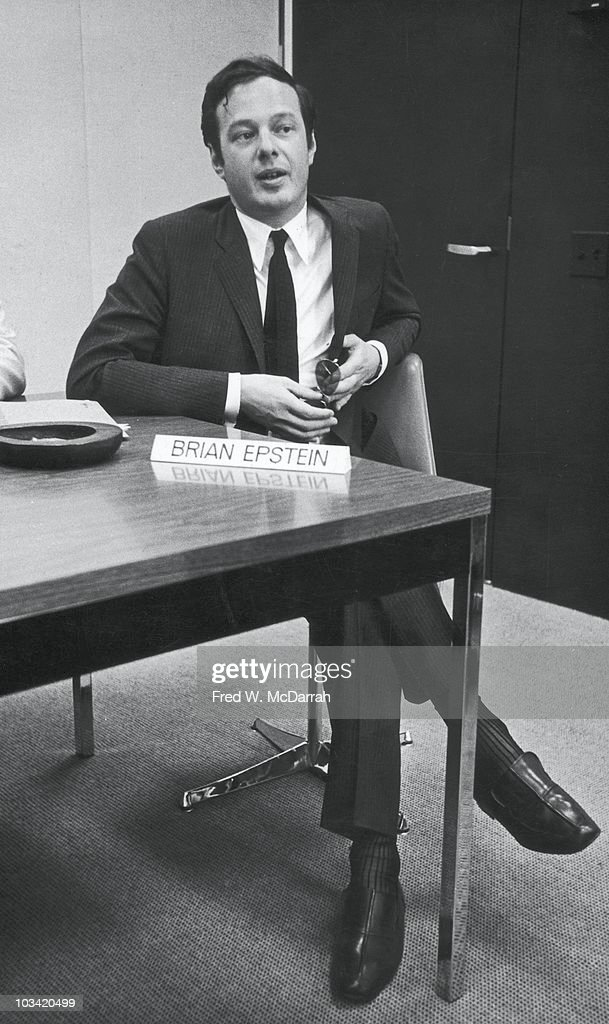 Brian Epstein At Press Conference : News Photo